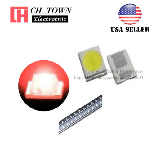 100PCS 2835 Red Light SMD SMT LED Diodes Emitting 0.8 Thick Ultra Bright USA
