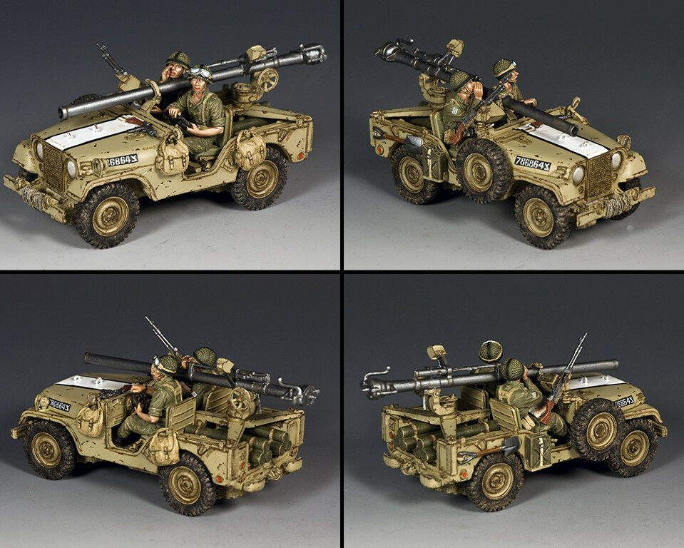 King and country israelí M38 Jeep con 106 mm IDF017 rifle sin retroceso