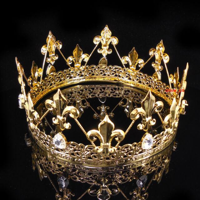 Mens imperial medieval fleur de lis gold king crown 8cm high 18cm mens imperial medieval fleur de lis gold king crown 8cm high 18cm diameter thecheapjerseys Image collections