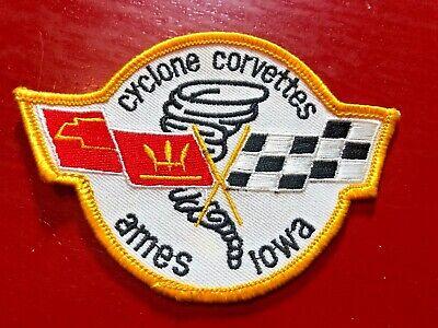 Vintage Cyclone Corvettes Ames Iowa Patch Chevy Chevrolet