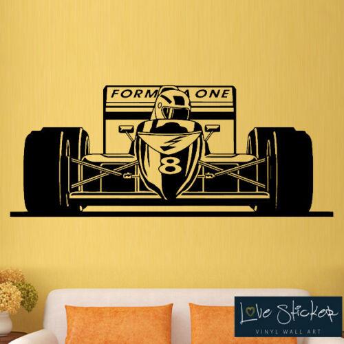 Wall Stickers Formula 1 Car Cool Racing Boys Bedroom Kids Art Decals Vinyl Home