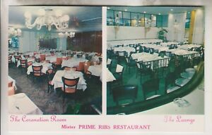 Details About Vintage Postcard Mister Prime Ribs Restaurant 24 Central Park South Nyc