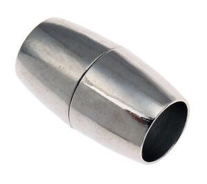 4-Magnetverschluss-Schmuckverschluss-Kettenverschluss-Oval-15mm-Messing-M481