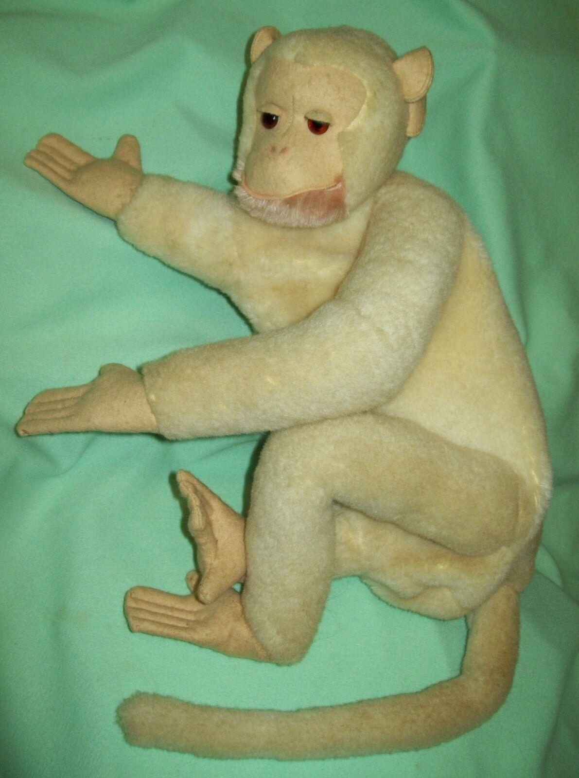 Vintage FARNELL ALPHA TOY Felt & Mohair Monkey PAJAMA BAG Made in England