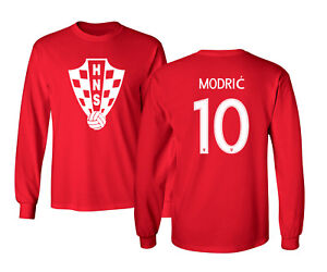 new style dc130 abbcb Details about Croatia 2018 Soccer #10 Luka MODRIC World Cup Men's Long  Sleeve T-Shirt