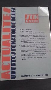 Revista Odontostomatologiques N º 3 Annee 1948 ABE
