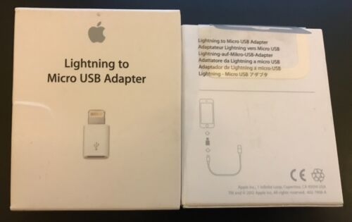 NEW /& SEALED Apple Lightning to Micro USB Adapter MD820ZM//A