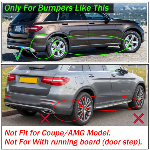 Set Mud Flaps Splash Guards For Mercedes Benz GLC Class X253 2016-2019 Mudflaps