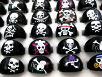 Wholesale Lots 50pcs Skull Black Resin Lucite Children/Kid Rings FREE J06