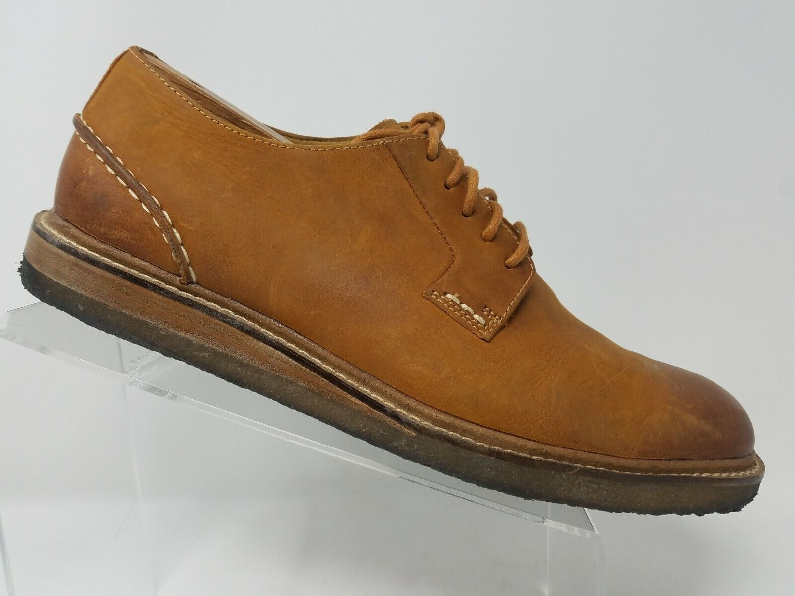 Sperry gold Cup Mens Crerpe Oxford Size 10.5 Brown Leather STS16832