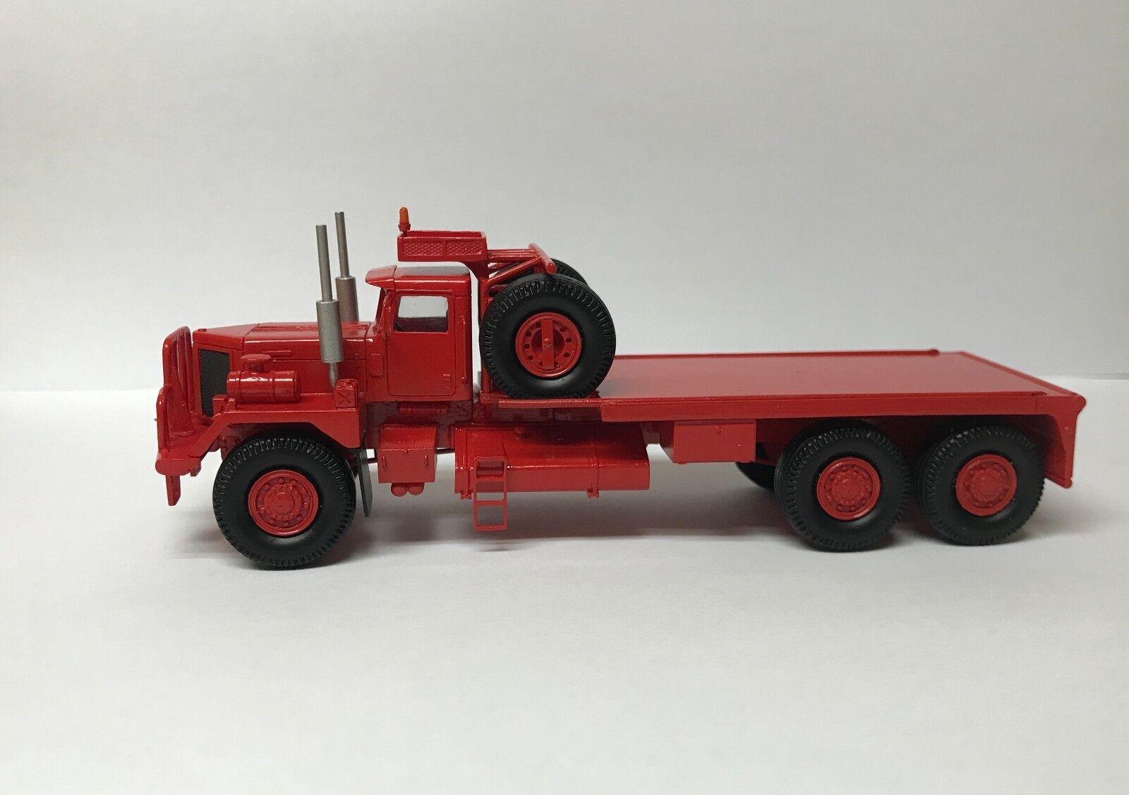 HO  1 87 KENWORTH 953 Oilfield-prêts Résine Modèle-Rouge  tout en haute qualité et prix bas