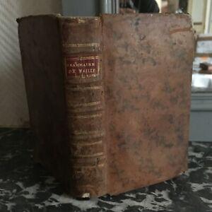 Wailly Prinzipien Généraux Und Reisezugwagen von Der Langue French Barbou 1786