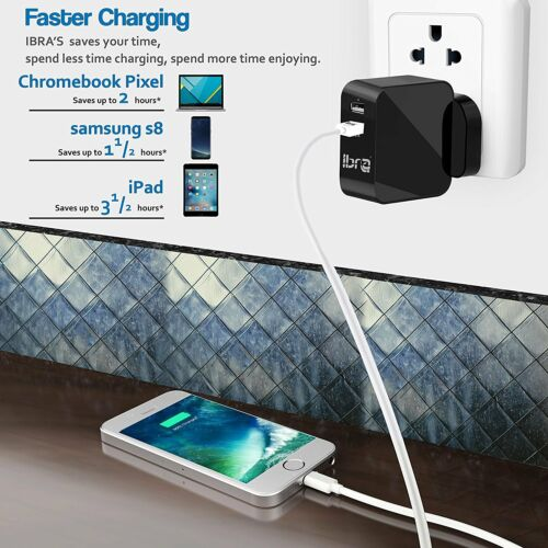 NEW POWER USB MAINS ADAPTOR 10W CHARGER UK PLUG FOR IPAD iPHONE MP3 SMARTPHONE