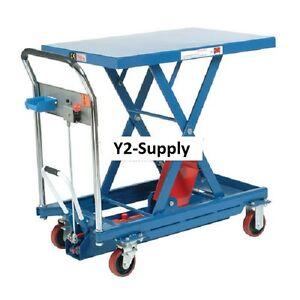 New Mobile Scissor Lift Table 1100 Lb Capacity Ebay