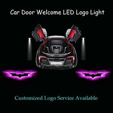 2 x Pink Dark Knight Batman Logo Car Door Laser Projector Ghost Shadow LED Light