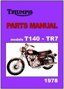 Triumph Parts Manual T140 And Tr7 1978 Replacement Spares Catalog