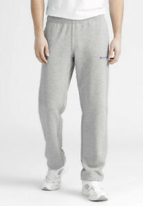 Champion-Mens-Closed-Hem-Joggers-Gym-Training-Sweat-Pants-Grey