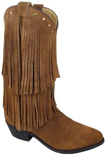 Neuf Femmes Smoky Montagne Bottes Cowboy - Cuir Western - Daim Frange - 9 1 2