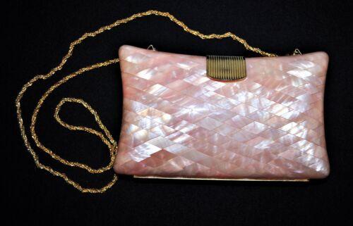VINTAGE DELILL PLASTIC DIAMOND MOTHER OF PEARL PLA