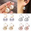 Simple-Silver-Gold-Rose-Gold-Drop-Earrings-Women-Round-Ball-Earring-Jewelry-Gift thumbnail 4