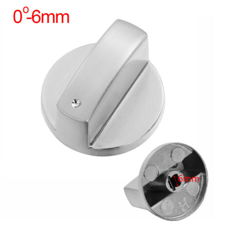 Alloy Silver Gas Stove Switch Metal Rotary Cooker Control Knobs Kitchen Tool