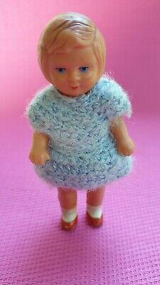 Puppe Gummi Puppenstube Puppenhaus 10 cm Häkelkleid   eBay