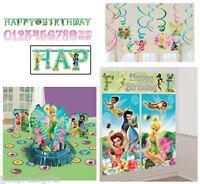 Disney Tinkerbell Birthday Pack (banner,wall Poster,swirls & Table Decor Kit)