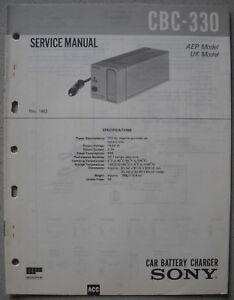 SONY-CBC-330-Service-Manual
