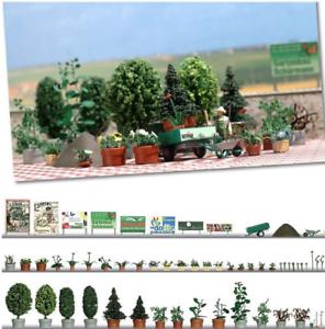 Busch-1211-Flower-And-Plants-Set-HO-Gauge