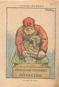 Caricature-Politique-Emprunt-Russe-Propagande-Communiste-Revolution-Russia-1936