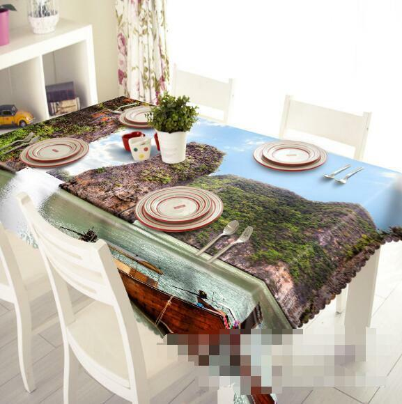 3D Sea Mountains Tablecloth Table Cover Cloth Birthday Party Event AJ WALLPAPER
