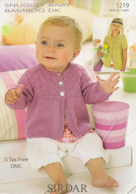 baby child cardigans dk Knitting pattern