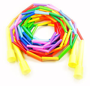 Beaded Double Dutch Jump Ropes - USA Made - 14ft (Set of 2 Ropes) Great for Kids