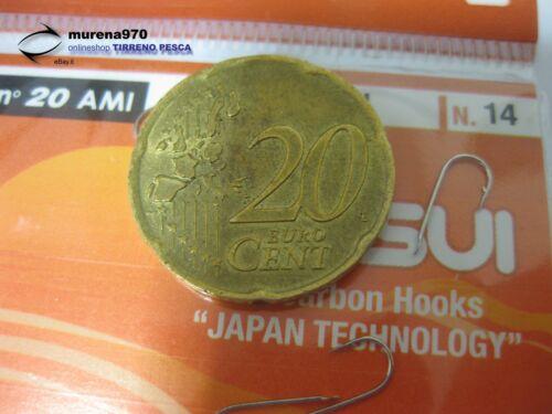 MU121 1 CONFEZIONE DA 20 AMI KATSUI SERIE 1063N n.14 PESCA