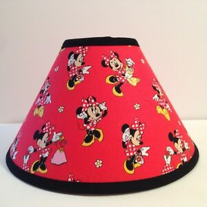 Disney minnie mouse red fabric childrens lamp shade ebay image is loading disney minnie mouse red fabric children 039 s aloadofball Image collections