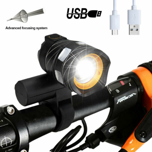 Bicycle Front Rear Light Rechargeable USB Headlamp Headlight BIke LED XL-M T6