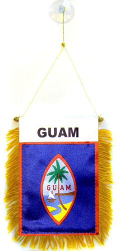 "Guam Mini Flag 4/""x6/"" Window Banner w// suction cup"