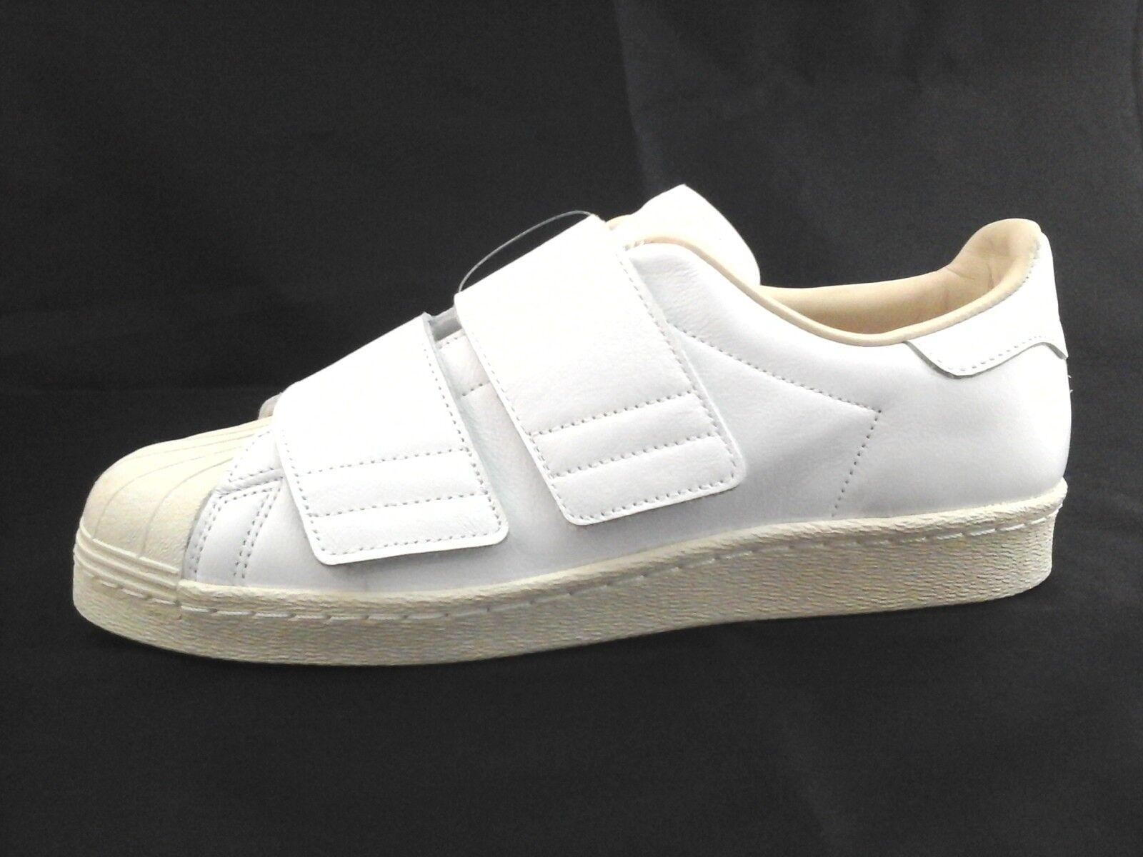 ADIDAS Superstar bianca Leather Leather Leather scarpe da ginnastica 80s Straps CQ2447 donna US 10.5 43 1 3 d0333d