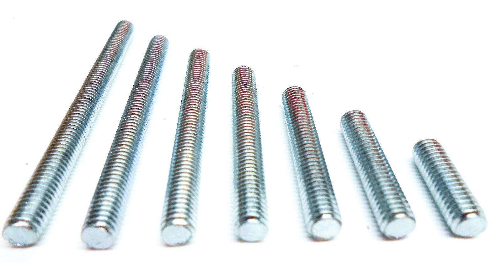 Gewindebolzen Gewindestangen DIN976 Bolzen Stahl Gewinde 115 Varianten NEU (F86)
