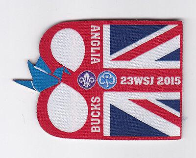 2015 World Scout Jamboree UK / BRITISH ANGLIA & BUCKS SCOUTS Contingent Patch