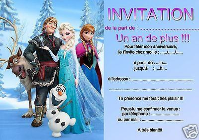 5 ou 12 cartes invitation anniversaire Reine des neiges réf 313 | eBay