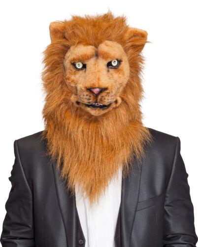 Maske Tiermaske Löwe bewegliches Maul und leuchtende Augen