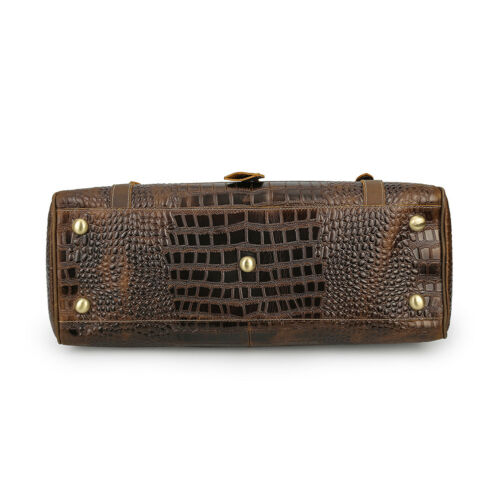 New Vintage Men Women Crocodile Leather Travel Luggage Bag Shoulder Bag Handbag