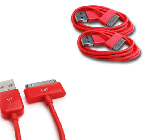 NEW 2X 10FT USB TO 30PIN RED CABLE CORD DATA CHARGER FOR GALAXY TAB TABLET