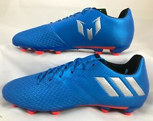 6d6deed98 Adidas Messi 16.3 FG J Soccer Cleats S79622 Blue Silver Outdoor ...