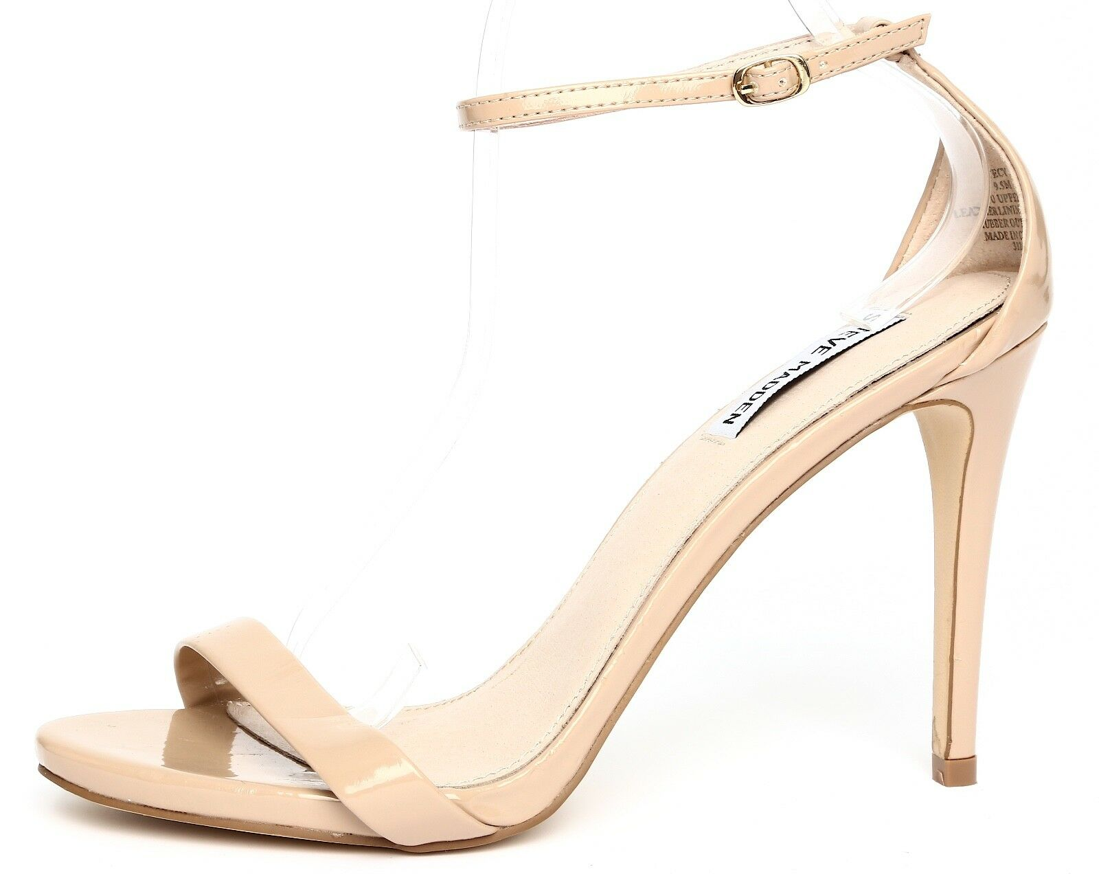 a buon mercato Steve Madden Stecy Patent Patent Patent Leather Nude Ankle Strap Sandal Heels Sz 9.5M 4337  100% autentico