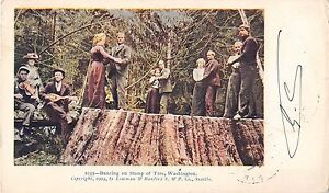 CPA-USA-DANCING-ON-STUMP-OF-TREE-WASHINGTON