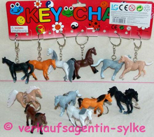 Schlüsselanhänger: 6 versch Gr.5,5-7cm Pferd Pony Pferde an Schlüsselkette