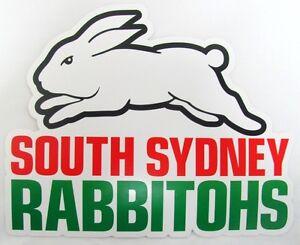 62508 South Sydney Rabbitohs Nrl Club Logo Large Pre Cut Car Spot Sticker Decal Ebay