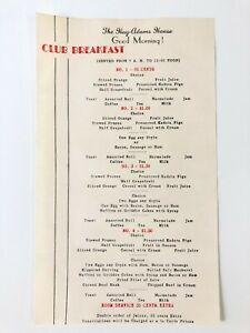 Vintage-The-Hay-Adams-House-Club-Breakfast-Menu-Fine-Dining-Hotel-Menu-1950-039-s